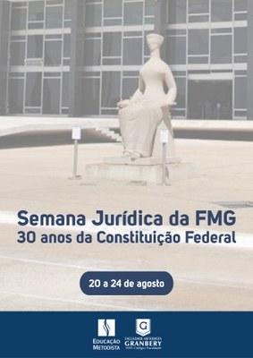 """Semana Jurídica vai abordar os """"30 anos da Constituição Federal de 1988"""""""