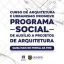 Curso de Arquitetura e Urbanismo abre inscrições para a seleção de projetos de arquitetura