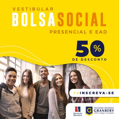 Granbery inscreve para bolsas sociais de 50% em cursos presenciais e a distância