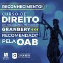 Pela segunda vez o curso de Direito do Granbery recebe o Selo OAB Recomenda
