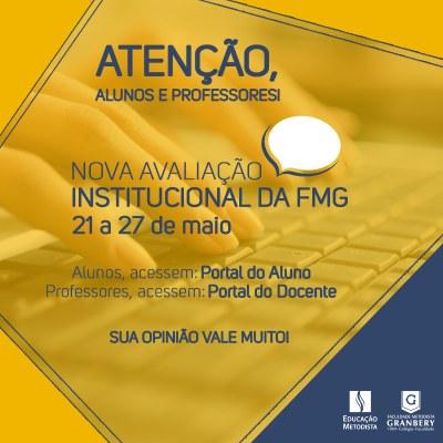 Avaliação Institucional, agora anual, será realizada de 21 a 27 de maio