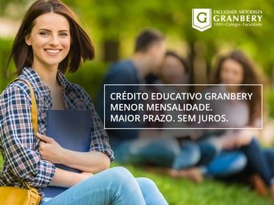 CRÉDITO EDUCATIVO: ESTUDE NO GRANBERY EM CONDIÇÕES FACILITADAS