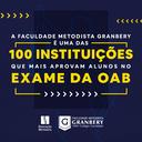 Curso de Direito do Granbery se destaca nos Exames da OAB