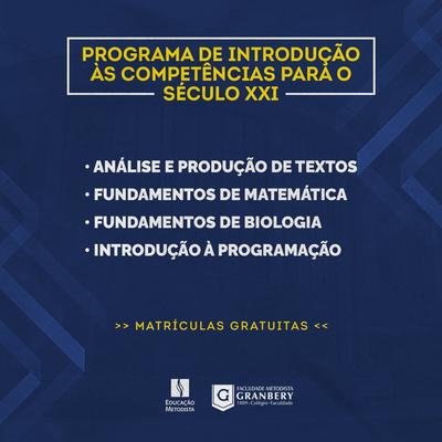 Educação Metodista abre novo período de inscrições para cursos do Programa de Introdução às Competências para o Século XXI