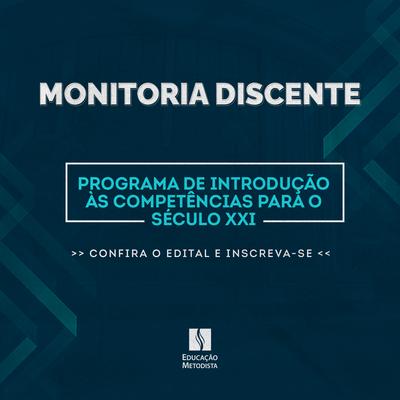 Granbery e Universidade Metodista de São Paulo abrem processo seletivo para Programa de Introdução às Competências para o Século 21 de monitoria discente