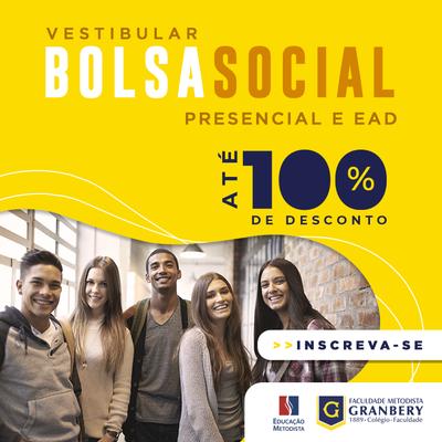 Inscrições abertas: processo seletivo da Bolsa Social Granbery de até 100% em cursos presenciais e a distância - calouros e veteranos