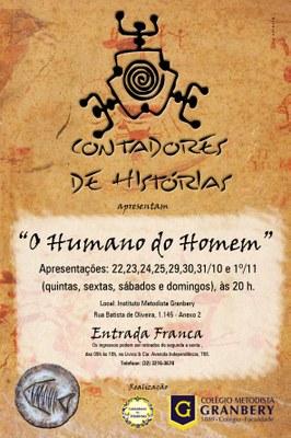 O HUMANO DO HOMEM: NOVO ESPETÁCULO DOS CONTADORES DE HISTÓRIAS