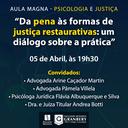 Psicologia e Direito promovem Aula Magna no próximo dia 05