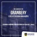 Ranking Universitário Folha confirma qualidade de cursos do Granbery