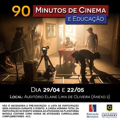 Curso de Pedagogia promove debate sobre Cinema e Educação