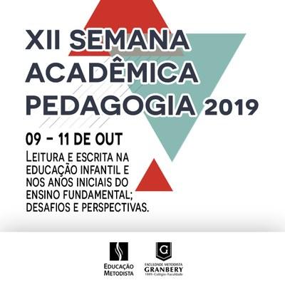 Curso de Pedagogia realiza XII Semana Acadêmica