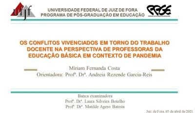 Granberyense defende dissertação sobre o trabalho docente na pandemia