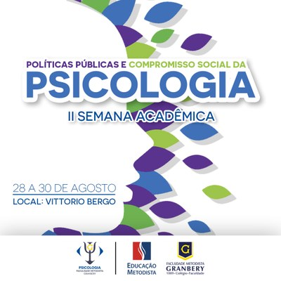 2ª Semana Acadêmica de Psicologia acontece no final de agosto