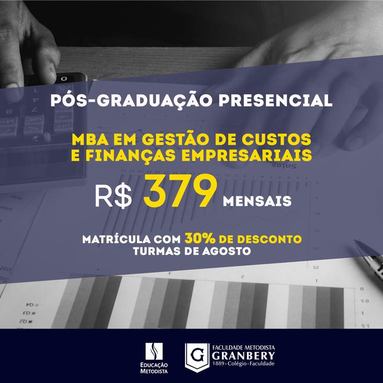 MBA em Gestão de Custos e Finanças Empresariais