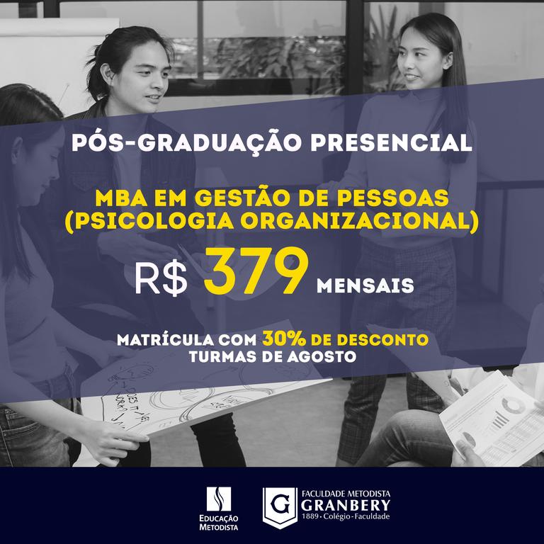 MBA em Gestão de Pessoas (Psicologia Organizacional)